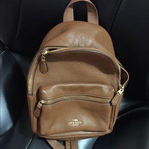 Leather Coach mini Charlie Backpack NWT